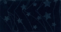 Vilt lapje met kerst print blauw ster lijn 30 x 40 cm per lapje