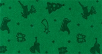 Vilt Kerst Print, Groen, 30 x 40 cm