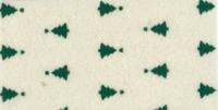 Vilt Kerstboom print, Creme/Groen, 30 x 40 cm, 1mm dikte