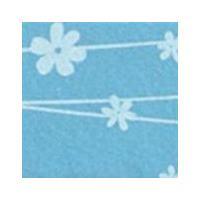 Vilt lapje met bloemetjes blauw 30 x 40 cm 1 mm dik per lapje