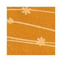 Vilt lapje met bloemetjes oker geel 30 x 40 cm 1 mm dik per lapje