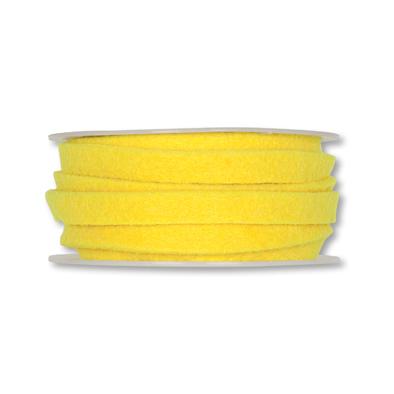 Vilt band 1 cm breed geel 5 meter op rol, per rol