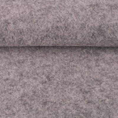 Vilt grijs gemeleerd 3 mm dik 90 cm breed per meter