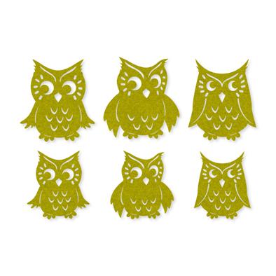 Vilt uilen lime groen 6 stuks per zakje