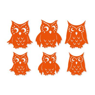 Vilt uilen oranje 6 stuks per zakje