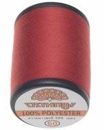 Naaigaren rood 100% polyester 500 meter per klos