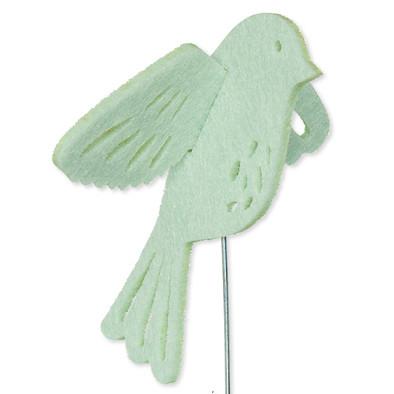 Vilt 3D vogel mint 8,5 cm groot per stuk