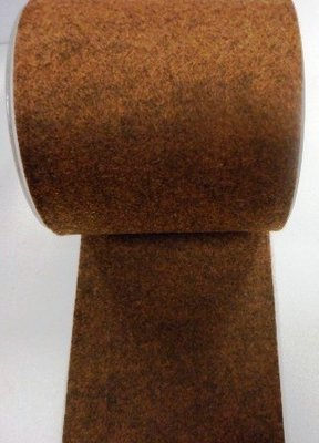 Vilt band 10 cm breed bruin gemeleerd per meter