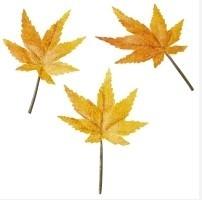 Decoratie blaadje oranje klein 12 stuks per zakje