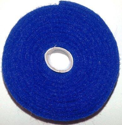 Vilt band op rol 2 cm breed 1,5 meter lang blauw