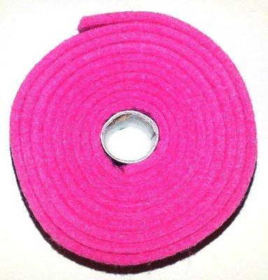 Vilt band op rol 2 cm breed 1,5 meter lang roze