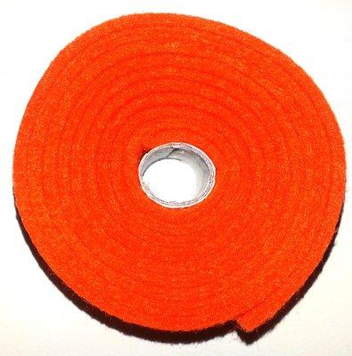 Vilt band op rol 2 cm breed 1,5 meter lang oranje