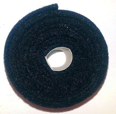 Vilt band op rol 2 cm breed 1,5 meter lang zwart