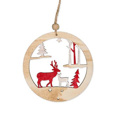 Houten hanger, Winter, Groot per stuk