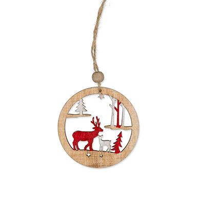 Houten hanger, Winter klein, per stuk