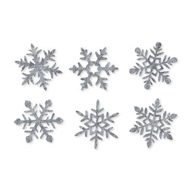 Vilt ijs sterren, Grijs, 12 st. per verpakking