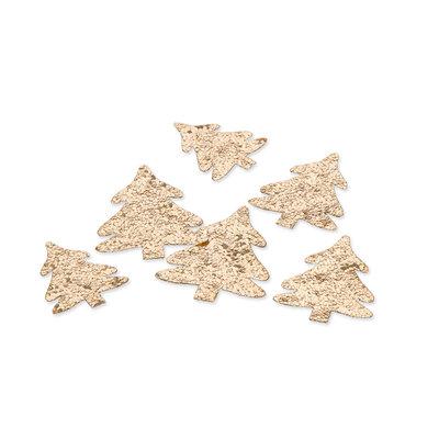 Glitter boompjes, Goud,24 st. per verpakking