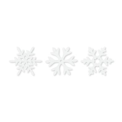 Vilt ijs kristallen, 36 stuks per zakje, Wit