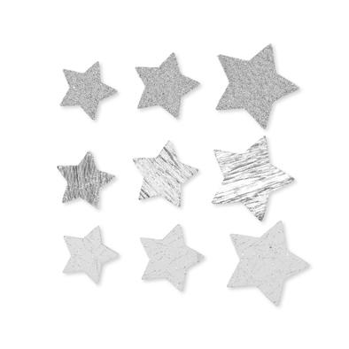 Foam Sterren, Zilver, 78 stuks