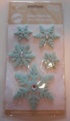 Vilt IJskristallen stickers, Mint