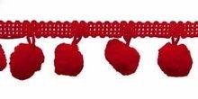 Bolletjes band rood per meter