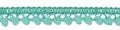 Mini pom pom band zee groen 10 mm breed per meter