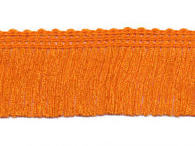 Franje band oranje 30 mm breed, per meter