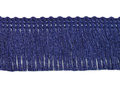 Franje band donker blauw 30 mm breed, per meter