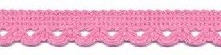 Lusjesband licht roze 12 mm breed per meter