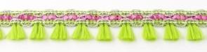 Flosjesband fel groen fuchsia per meter