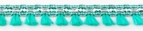 Flosjesband groen mint per meter