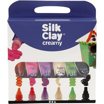 Silk clay creamy 3D paint zachte kleuren set