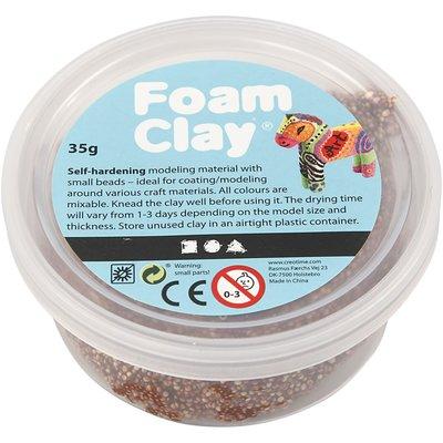 Foam clay bruin35 gram per pot