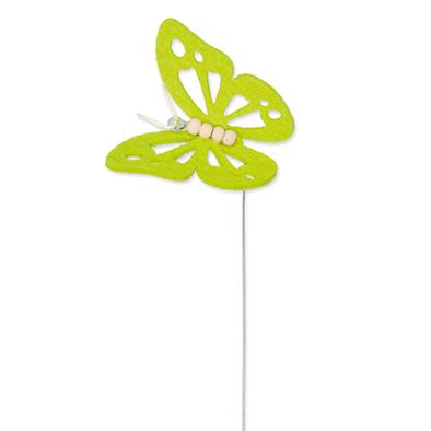 Vilt vlinder groen op steker per stuk