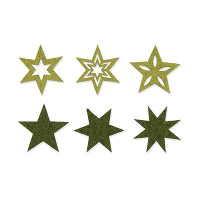 Vilt sterretjes, Groen, 36 st.