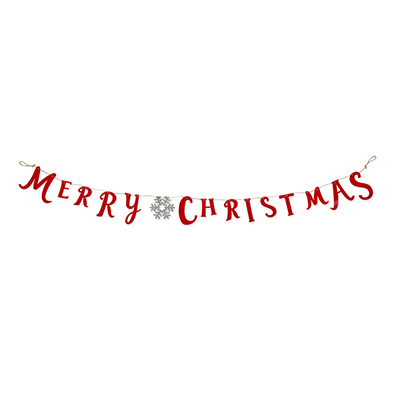 Vilt slinger Merry Christmas, Rood