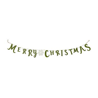 Vilt slinger Merry Christmas, Groen