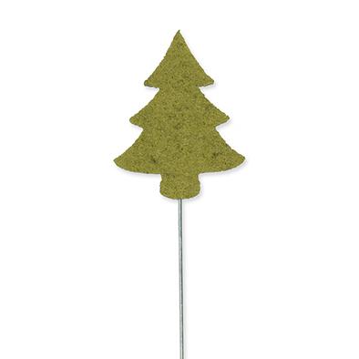 Vilt Kerstboom pins, Groen, 3 st. per verpakking