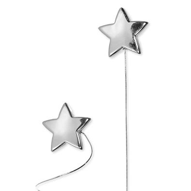 Wire stick stars Zilver