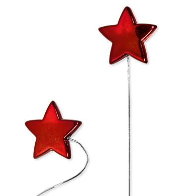 Wire stick stars Rood