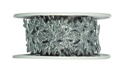 Glitter Stickerband ijs sterren zilver
