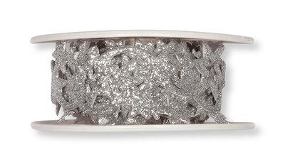 Glitter sticker band Sterren Zilver