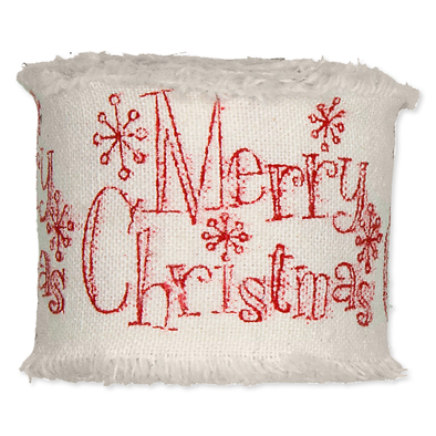 Bedrukt katoen Merry Christmas Sierlijk Rood