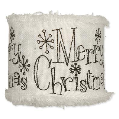 Bedrukt katoen Merry Christmas Sierlijk Zwart