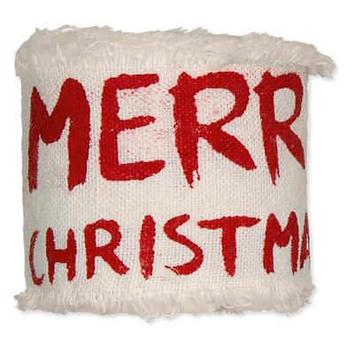 Bedrukt katoen Merry Christmas Rood