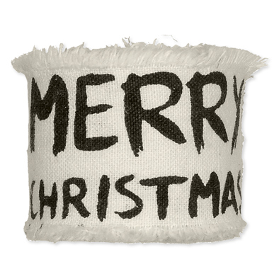 Bedrukt Katoen Merry Christmas Zwart