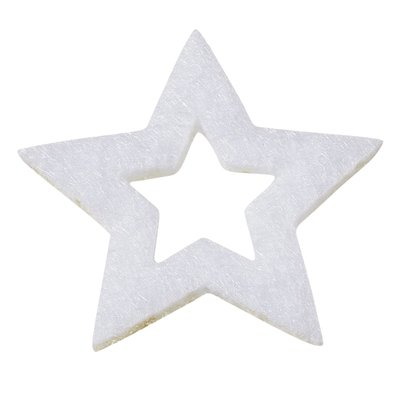 Vilten sterretjes wit 3 cm doorsnee 12 stuks per doosje