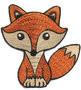 Opstrijk applicaties vos oranje 7,5 x 8 cm per stuk