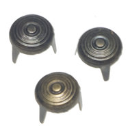 Studs rond bronskleurig 10 mm 20 stuks per zakje