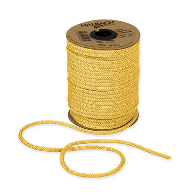 Knitted Paper Yarn Tubes, Geel, per rol